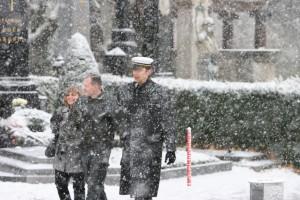 Wolfgang Lechner und Gernot Schandl (aB! Gothia Wien, RFS-Kandidat bei der ÖH-Wahl 2006, Regionalreferent der FPÖ NÖ), beim Gedenken an Walter Nowotny, Zentralfriedhof Wien Wien, 11. November 2007
